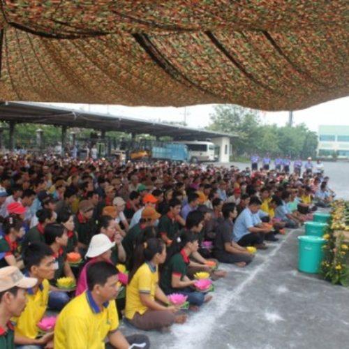 Khai Lễ Tắm Phật cho hơn 1,000 công nhân tại Cty Tiến Triển, Bình Dương