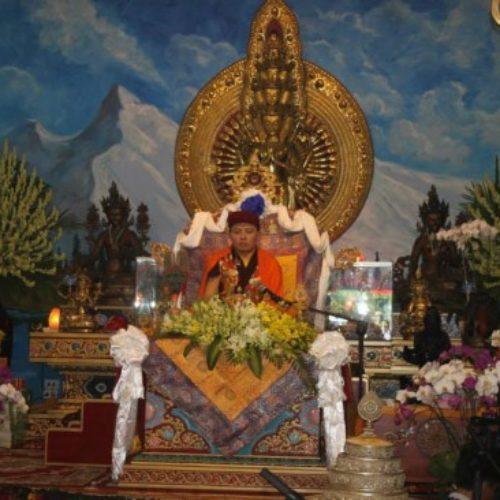 Nhiếp Chính Vương Drukpa Thuksey Rinpoche chủ trì pháp hội tại Quan Âm Tu Viện