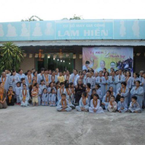 Đạo tràng Đại Bi Lam Hiền kỷ niệm 2 năm thành lập