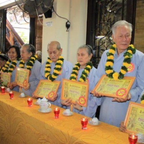 Hơn 150 thọ nhân được Quan Âm Tu Viện (Q.PN) tổ chức Lễ Chúc thọ