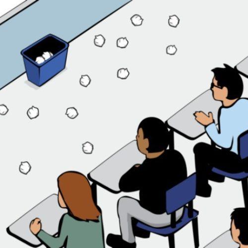 Bài học về đặc quyền con người qua trò ném giấy vào thùng