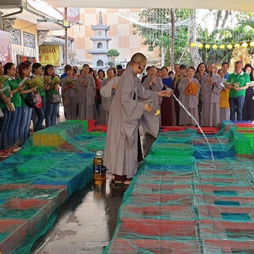 Quan Âm tu viện tổ chức phóng sinh và tụng kinh Phước Đức nhân dịp đầu năm Kỷ Hợi